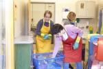 Viel Arbeit in der Wäscherei