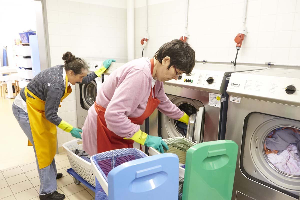 Jeden Tag wird die Wäsche frisch gewaschen