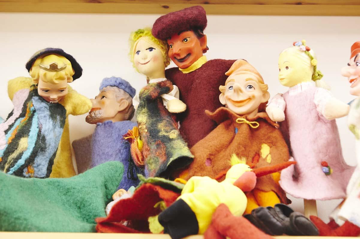 Puppen aus gefilztem Material