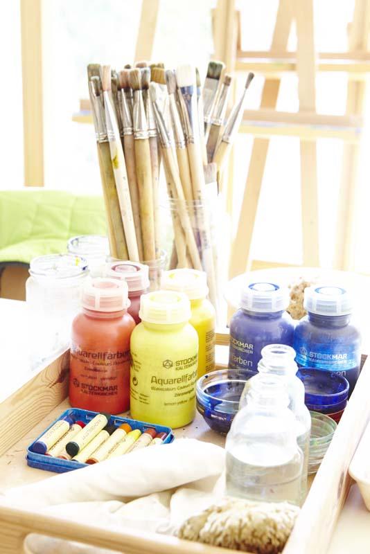 Therapeutisches Malen ist seelisches Erleben der Formen und Farben