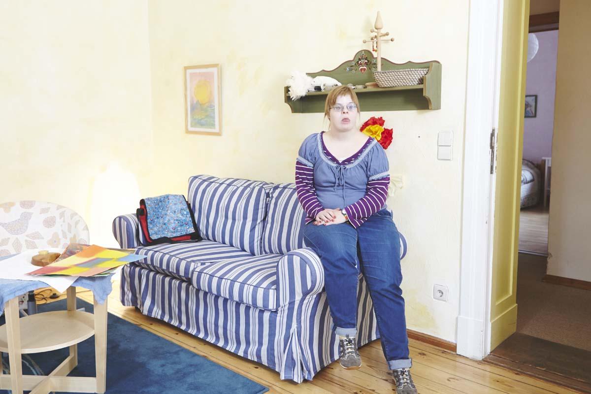 Blick in das Zimmer einer Bewohnerin des Tilla-König-Hauses