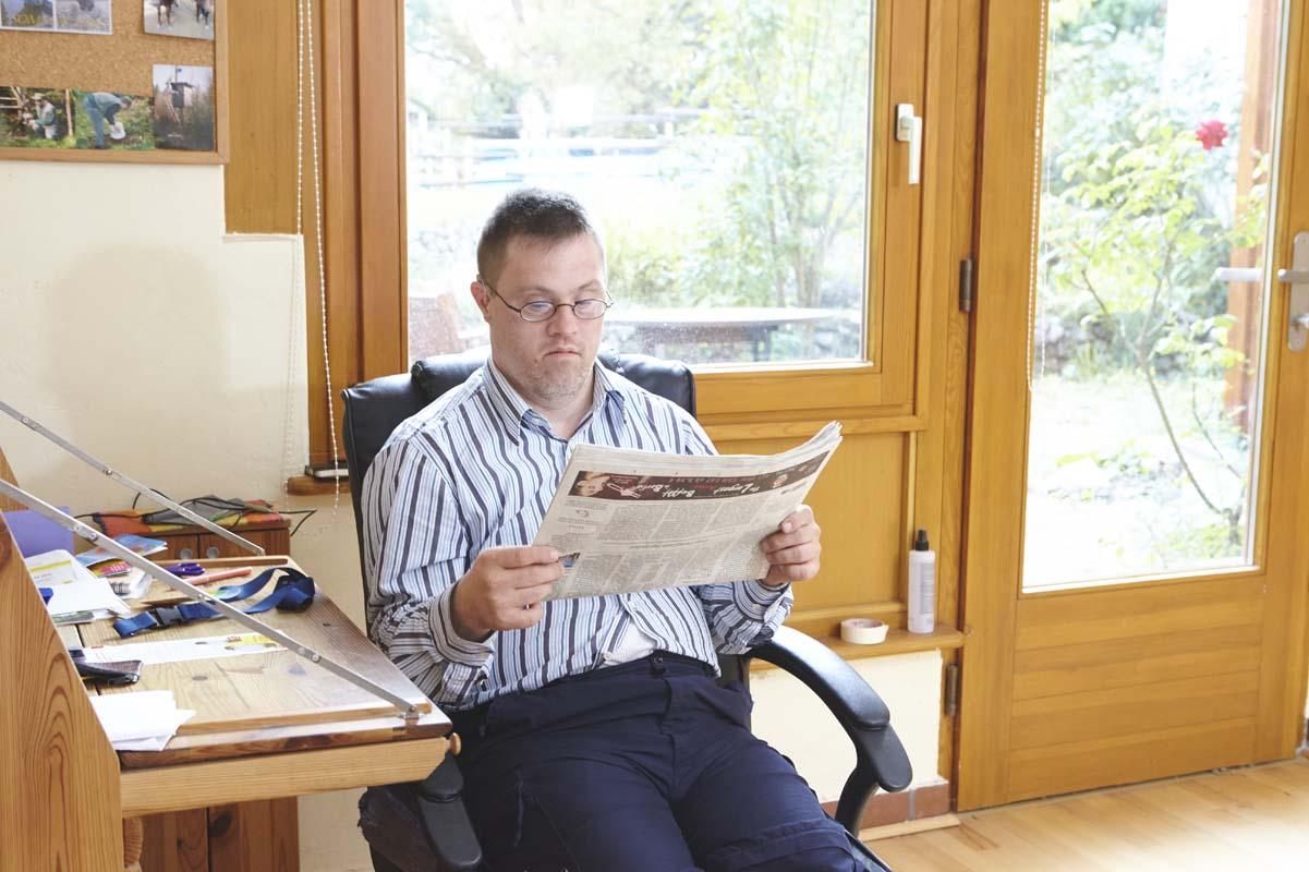 Private Atmosphäre im Zimmer eines Bewohners des Valborg-Werbeck-Svärdström-Hauses